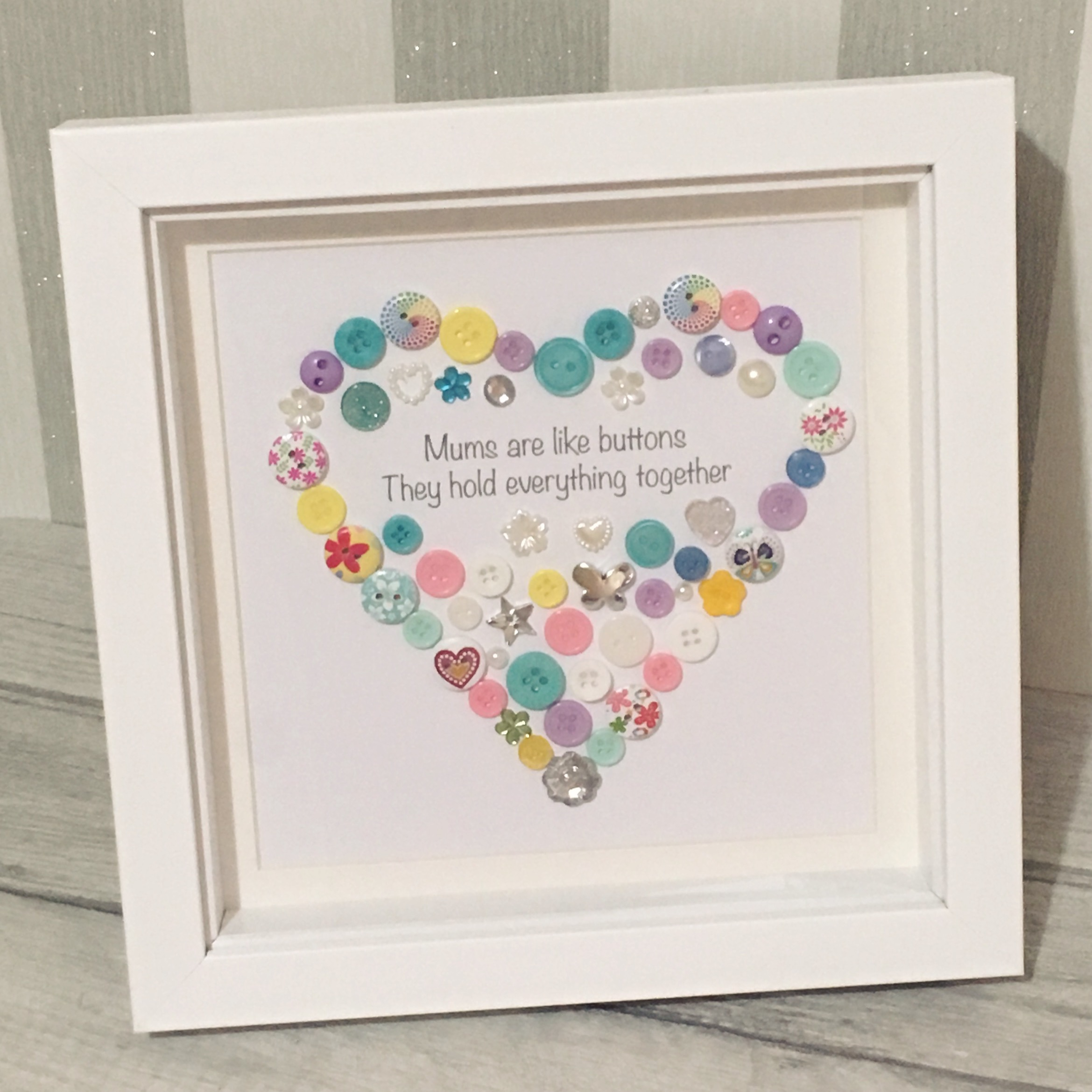 Buttons and Bobbins Mother's Day Picture Frame