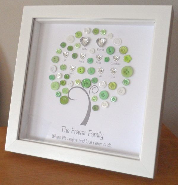 Family Tree Button Picture from Buttons and Bobbins